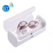 TWS-10 Universal Wireless Bluetooth Binaural Stereo Bass Earphones Mini Isolation In-Ear Earphones with Charging Box (Rose Gold)