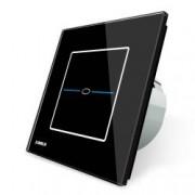 Intrerupator simplu cu touch Livolo din sticla - Seria R Negru
