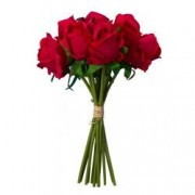Buchet de trandafiri artificiali F419-275 Pami Flower 25 cm Rosu