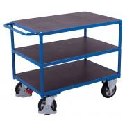 VARIOfit Schwerlast Tischwagen mit Schiebegriff und 3 Ladeflächen 1995x800mm