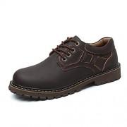 WUXUN-SHOES Business High Quality Durable Zapatos Oxford de Alta Calidad for Hombres Zapatos Formales Estilo de Encaje OX Cuero Colores Puros Suela Estilo británico Shoes for Men