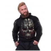 kapucnis pulóver férfi - DEATH BONES - SPIRAL - T126M468