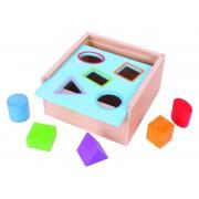 Prima mea cutie de sortat BigJigs, 5 piese colorate din lemn