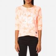 Superdry Women's Washed Crop Crew Sweatshirt - Bird of Paradise Coral - XS - Pink
