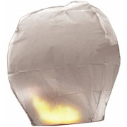 Lampion alb 100cm Big Party