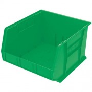 Akro-Mils 30270 Plastic Storage Stacking Hanging Akro Bin, 18-Inch by 16-Inch by 11-Inch, Green, Case of 3