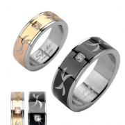 Ocelové snubní prsteny R-H1621