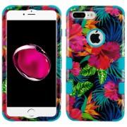Funda Case Para IPhone 7 Plus / IPhone 8 Plus Protector Doble De Uso Rudo - Hibiscus Aqua