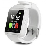 U8 white Bluetooth Smart watch with real Altimeter Barometer Pedometer temperature touch Screen