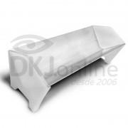 Calha 95 cm de alumínio com lateral para aplicar emulsão em matriz serigráfica