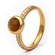 Orotech Firenze 18 Karaats Roségouden Ring met Diamant