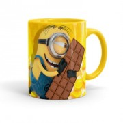 Caneca Chocolate Minions Meu Chocolate Favorito 01 Amarela
