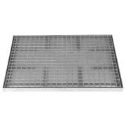 Kovová rohož ze svařovaných podlahových roštů bez gumy s pracnami Galva - 151,5 x 60 x 3,5 cm (00060012) FLOMAT