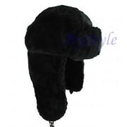Zimowa czapka uszatka futrzana