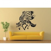 Wall Vinyl Room Sticker Stickers Mural Design Art Wild Animal Wolf Wings 95