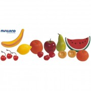 Set fructe din plastic Miniland, 15 buc