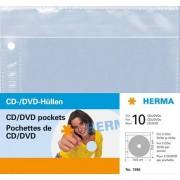HERMA 7686 custodia CD/DVD Custodia a tasca 2 dischi Trasparente