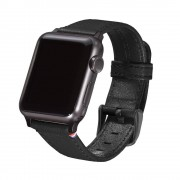 Decoded Horlogeband Decoded Leather Apple Watch Strap 38mm Black
