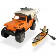 Masina Dickie Toys Playlife Camping Set cu figurina si accesorii