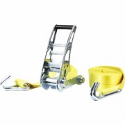 SmartStraps Commercial-Grade Stamped Ratchet Tie-Down Strap - 3 Inch x 27ft., with J-Hook, 15,000-Lb. Breaking Strength, Yellow, Model 4517