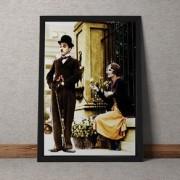 Quadro Decorativo Charles Chaplin Colorido 35x25