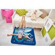 House of Kids speelkleed Assepoester 95 x 70 cm blauw