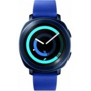 """Smartwatch Samsung Gear Sport SM-R600, Procesor Dual-Core 1GHz, Circular Super AMOLED 1.2"""", 768MB RAM, 4GB Flash, Bluetooth, Wi-Fi, Bratara silicon, Tizen (Albastru)"""
