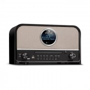 Auna Columbia, DAB радио, 60 W max., CD, DAB+/FM tuner, BT, MP3, USB, черно (TTS6-R-200)