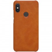 NILLKIN Qin Series Leather Card Holder Case for Xiaomi Redmi Note 6 Pro - Brown