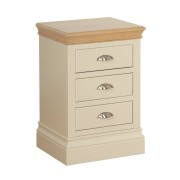 Devonshire Lundy Ivory 3 Drawer Bedside