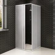 vidaXL Zuhanyfülke Ház PP Aluminium Keret Négyszögletes 80 x 90 cm