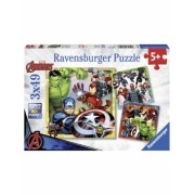 Puzzle Marvel Avengers 3X49 Piese Ravensburger