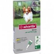 Bayer Advantix Spot On - 4 Pipette 0,4 Ml Per Cani Fino A 4 Kg