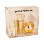 Paco Rabanne Lady Million confezione regalo Eau de Parfum 80 ml + lozione per il corpo 100 ml + Eau de Parfum 10 ml Donna