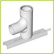 52106201 - Brilon Komínové pätkové koleno DN 80 s podperou, 52106201