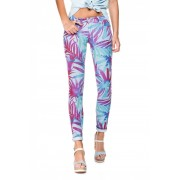 Salsa Pantalones estampados con hojas tropicales - Wonder Push Up