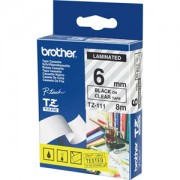 Ламинирана лента Brother TZ-111 Tape Black on Clear, Laminated, 6mm - Eco - TZE111