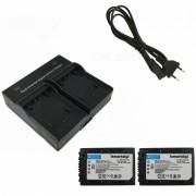 Ismartdigi FH100 3900mAh Baterias de la camara x 2 + cargador de la ranura dual