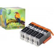 Ink Hero - 4 Zwarten - Inktcartridge / Alternatief voor de Canon CLI-551, PGI-550, PIXMA iP7250, iP8750, iX6850, MG5450, MG5550, MG5650, MG6350, MG6450, MG6650, MG7150, MG7550, MX725, MX925