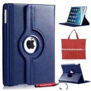 Donker Blauwe 360 graden draaibare hoes iPad 2/3/4 met orginele Hoesjesweb tas, hoesjes Apple iPad