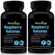 Nutriosys Raspberry Ketones - 250mg (180 Veg Capsules)- Pack of 2