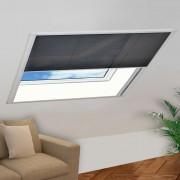 vidaXL Moustiquaire plissée pour fenêtre Aluminium 130 x 100 cm