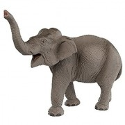 Safari Ltd Wild Safari Wildlife - Asian Elephant - Realistic Hand Painted Toy Figurine Model - Quality Construction from Safe and BPA Free Materials - For Ages 3 and Up