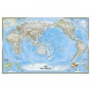 Harta politica a lumii centrata pe Pacific National Geographic