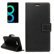 Samsung Galaxy S8 Plus Case, G550 Case, Litchi Texture Horizontal Flip Leather Case with Holder & Card Slots & Wallet Small Quantity Recommended Before Samsung Galaxy S8 Plus Case, G550 Case, Launching(Black)
