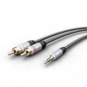 Goobay Cavo Adattatore MP3 Audio 3.5mm Maschio a 2xRCA Maschio 1,5m
