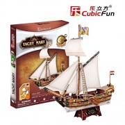 Lelifang Kids Toys 3D Three-Dimensional Puzzle Paper Model Ancient Ship Series T4010H Maria'S Yacht
