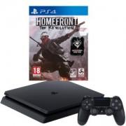 Конзола PlayStation 4 Slim 500GB Black, Sony PS4 + Игра Homefront: The Revolution за PlayStation 4