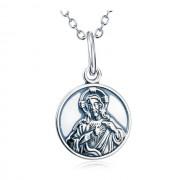 Colier argint femei Fecioara Maria si Isus