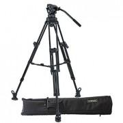 E-Image EI-7060AA ( EI7060AA ) Kit Aluminum Video Tripod + 7060H Professional Fluid Head / 190 CM